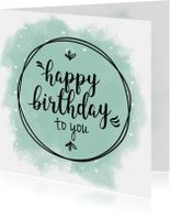 Verjaardagskaart geef het een kleurtje