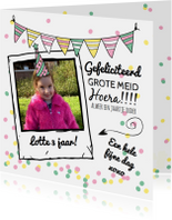 Verjaardagskaart gefeliciteerd grote meid