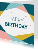 Verjaardagskaart geometrisch driehoek