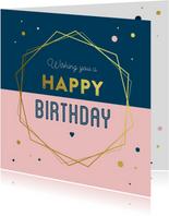 Verjaardagskaart geometrisch kader