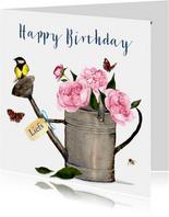 Verjaardagskaart Gieter pioenrozen