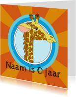 Verjaardagskaart giraf