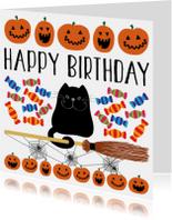 Verjaardagskaart halloween