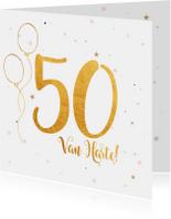 Verjaardagskaart happy 50 jaar