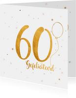 Verjaardagskaart happy 60 jaar