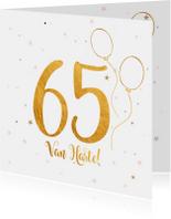 Verjaardagskaart happy 65 jaar
