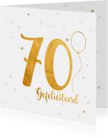 Verjaardagskaart happy 70 jaar