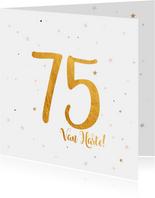 Verjaardagskaart happy 75 jaar