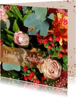 Verjaardagskaart herfstbloemen a
