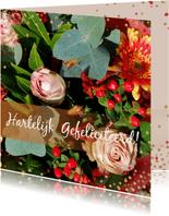 Verjaardagskaart herfstbloemen