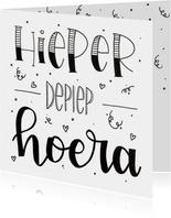 Verjaardagskaart - Hieper depiep Hoera