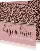 Verjaardagskaart hugs 'n kisses