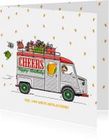 Verjaardagskaart HY bus cheers