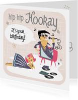 Verjaardagskaart in  jaren '50 stijl