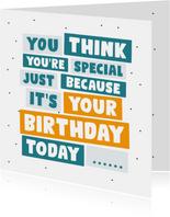 Verjaardagskaart it's your birthday