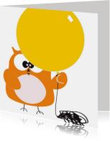 Verjaardagskaart kind met ballon van Mo Cards