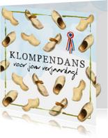 Verjaardagskaart 'Klompendans'