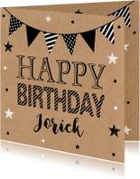 Verjaardagskaart kraft slinger
