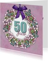 Verjaardagskaart Krans Sara - IH