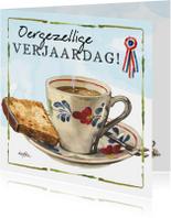 Verjaardagskaart Lang Leve de Boerderij Kopje Koffie