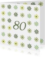 Verjaardagskaarten - Verjaardagskaart Leeftijd80