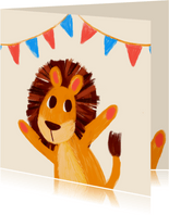 Verjaardagskaart leeuwtje