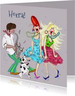 Verjaardagskaart Let's Dance