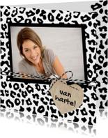 Verjaardagskaarten - Verjaardagskaart Luipaard Hart