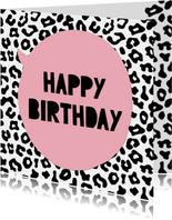 Verjaardagskaart Luipaard Print
