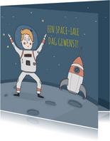 Verjaardagskaart maar dan een hele Space-iale!