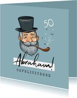 Verjaardagskaart man 50 jaar abraham vintage