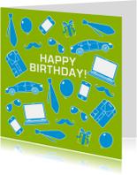 Verjaardagskaart man stoer