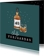 Verjaardagskaart man whisky drank chille verjaardag