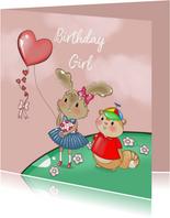 Verjaardagskaart Maple and Chestnut vlieger