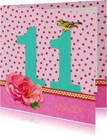 Verjaardagskaart Meisje 11