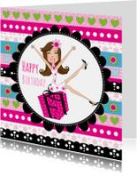 Verjaardagskaart meisje cadeau