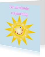 Verjaardagskaarten - Verjaardagskaart met een zon