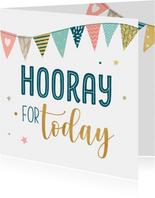 Verjaardagskaart met feestelijke slingers