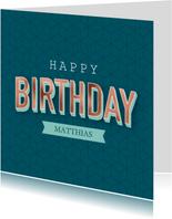Verjaardagskaart met geometrisch patroon