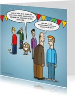 Verjaardagskaart met grappige cartoon 'humoristische noot'