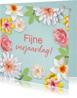 Verjaardagskaart met lentebloemen