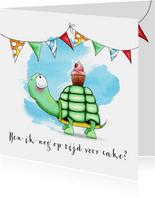 Verjaardagskaart met Schildpad