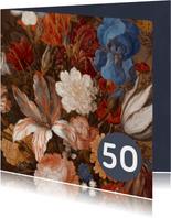 Verjaardagskaart met vrolijke bloemen