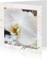 Verjaardagskaart Orchidee elegant