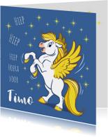 Verjaardagskaart paard Florian - A