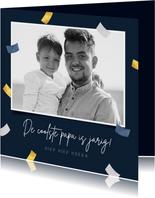 Verjaardagskaart papa man confetti fotocollage
