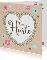 Verjaardagskaart Papier Hart