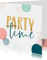 Verjaardagskaart party time