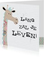 Verjaardagskaart Patch Giraf