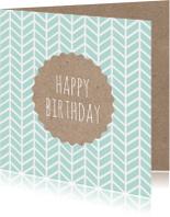 Verjaardagskaart patroon karton